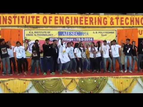 AIESEC Performance at Global Village 2014@ KJ Campus, Savli, Vadodara, Gujarat, India