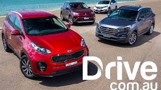 getlinkyoutube.com-2016 Kia Sportage v Hyundai Tucson v Honda CR-V v Toyota RAV4 | Drive.com.au