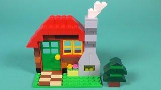 """getlinkyoutube.com-Lego Log Cabin Building Instructions - Lego Classic 10695 """"How To"""""""