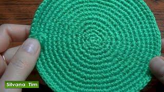 getlinkyoutube.com-Tejido en redondo o Trabajo en círculo en crochet. Cómo tejer círculo a ganchillo.