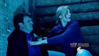 "getlinkyoutube.com-Castle 8x01 ""XY"" Beckett Saves Castle - Caskett Kiss  Season 8 Episode 1"
