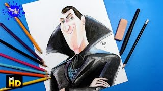 getlinkyoutube.com-HOTEL TRANSYLVANIA 2 /How to draw dracula/Como dibujar a dracula