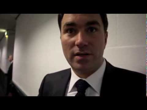 EDDIE HEARN REACTION TO CARL FROCH v GEORGE GROVES - POST FIGHT INTERVIEW