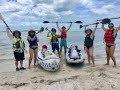 Kayaking from Honeymoon Island Dunedin Causeway to Caladesi Island, FL, relaxing music June 2016