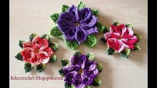 getlinkyoutube.com-Paso a paso - Flor Despertar Primaveril - Crochet o Ganchillo