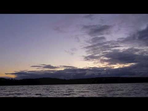 Time Lapse: Clouds rolling over Shell Lake (BWCA) sunset