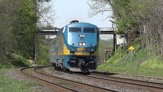 4K Footage from the Sony FDR AX100: London to Toronto Via Rail Train at the Woodstock Train Station
