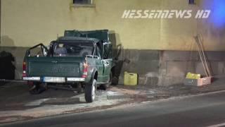 getlinkyoutube.com-Fahrer kracht in Hauswand - Tödlicher Unfall in Dissen - 20.01.2017