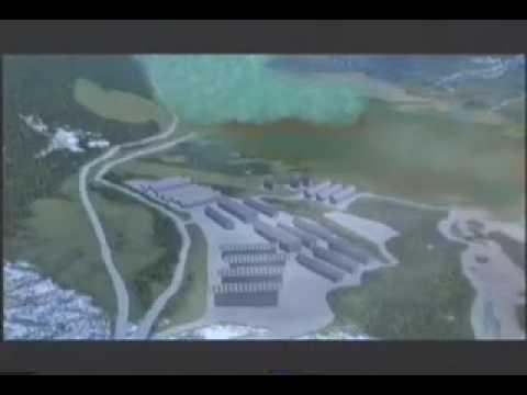 Animazione Vajont rockslide/wave 9X1963 rendering