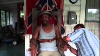 getlinkyoutube.com-Drunk Black Man Allows Racist White Man To Put Him In Electric Chair And Flip The Switch