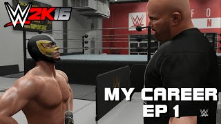 WWE 2K16 My Career Mode Part 1: KNOCKING OUT COACH ALBERT!