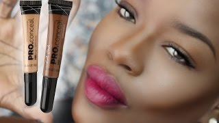 getlinkyoutube.com-How to Highlight and Contour DARK SKIN w/ LA Girl Concealer