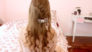 getlinkyoutube.com-Cute Easy Winter Hairstyle (Lace Braid)