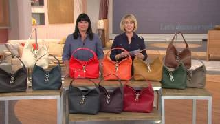 getlinkyoutube.com-Dooney & Bourke Leather Hobo with Logo Lock and Accessories with Mary Beth Roe
