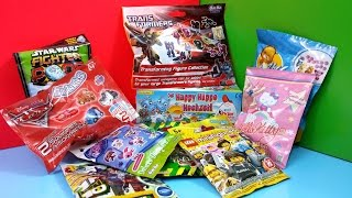 getlinkyoutube.com-Opening Kinder Surprise Eggs Blind Bags Disney Transformers Cars 2 Ben 10 Lego Littlest PetShop