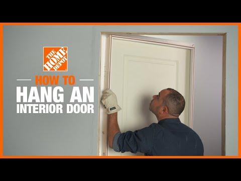 A video describing how to install a door