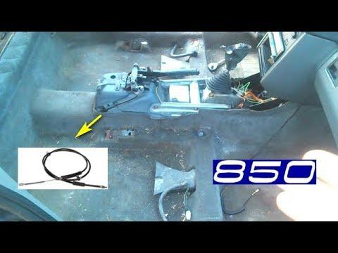 Замена тросов ручника Volvo 850