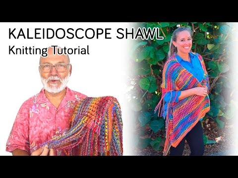 Kaleidoscope Shawl Knitting Tutorial & My Secret Fringing Tool