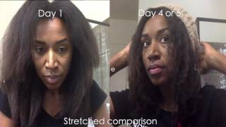 getlinkyoutube.com-Outsmarting Shrinkage on my Stretched 4c Hair (Moisture & Night Routine)