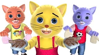 getlinkyoutube.com-Three Little Kittens Nursery Rhyme | Baby Songs | 3D English Nursery Rhymes for Children