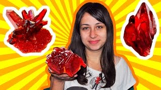 getlinkyoutube.com-How to grow beautiful Red crystal of salt at home!