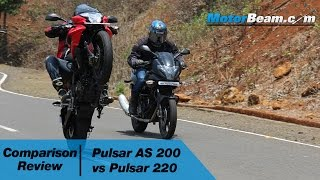 getlinkyoutube.com-Pulsar AS 200 vs Pulsar 220 - Comparison Review | MotorBeam