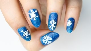 getlinkyoutube.com-❄️ Płatki śniegu na paznokciach ❄️ Red Lipstick Monster ❄️