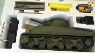 getlinkyoutube.com-Радиоуправляемый танк Шерман  Heng Long