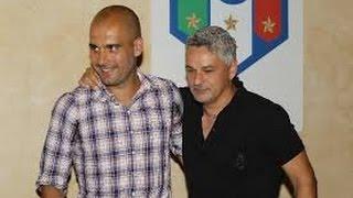 getlinkyoutube.com-Baggio  incontra Guardiola
