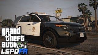 getlinkyoutube.com-GTA V LSPDFR #26 Los Angeles Police Ford Explorer!