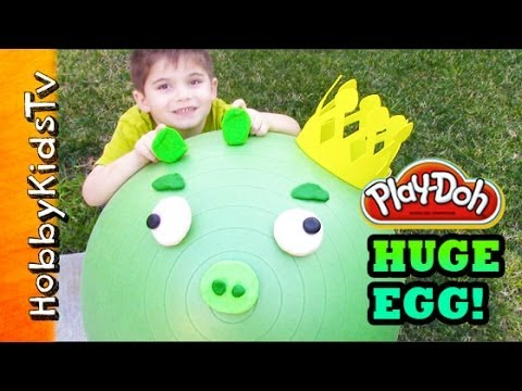 FIRST WORLD'S BIGGEST Surprise Toy Egg Ever! King Pig - Angry Birds, Star Wars, Toy Story