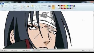 getlinkyoutube.com-drawing itachi uchiha akatsuki in paint-(dibujando a itachi en paint)