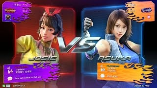 getlinkyoutube.com-TEKKEN 7 9/11 Josie - Online Battle (철권7 죠시)