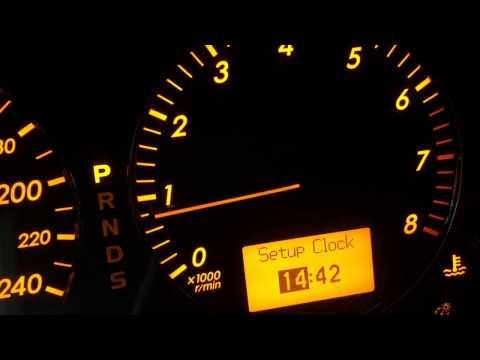 Тойота Как настроить часы? - How to set the clock on the Toyota