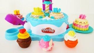 getlinkyoutube.com-Play-Doh Sweet Shoppe Cake Makin' Station Unboxing