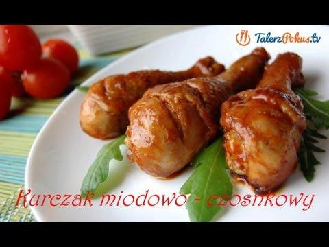 Kurczak miodowo - czosnkowy