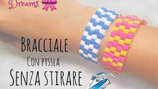 getlinkyoutube.com-bracciale senza stirare PEYOTE HAMABEADS without ironing  PERLER BEADS Pulsera sin planchar