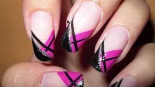 getlinkyoutube.com-Abstract French Nails