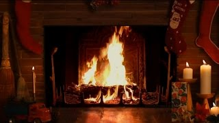 getlinkyoutube.com-Cozy Christmas Fireplace with Crackling Fire Sounds HD