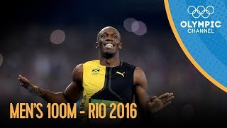 getlinkyoutube.com-Men's 100m Final | Rio 2016 Replay
