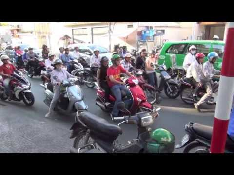 Traffic in Saigon - Ho Chi Minh City - Vietnam HD
