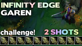 getlinkyoutube.com-Infinity Edge Only! GAREN |#3| League of Legends