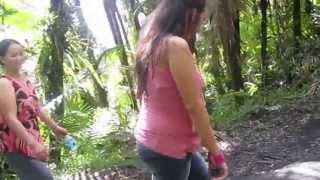 getlinkyoutube.com-Nou and Nyab Nou piggy back ride up the El Yonque Rainforest mountain