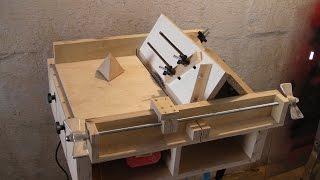 getlinkyoutube.com-Homemade Table Saw Sledge - Part 4 - Jig to build Tetrahedrons and Pyramids