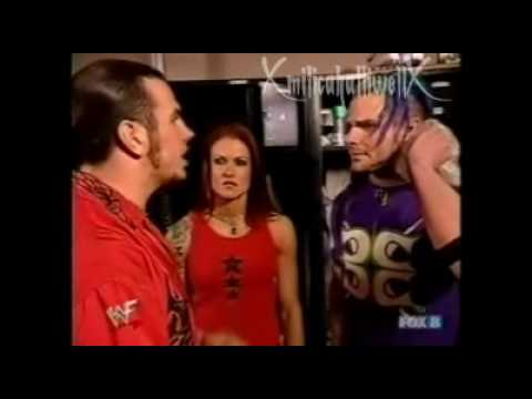 Lita,Matt Hardy and Jeff Hardy backstage