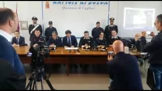 Conferenza stampa in questura a Cagliari per il fermo di Igor Diana