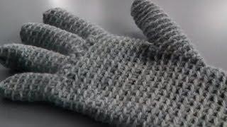 getlinkyoutube.com-Handschuhe häkeln Anleitung Handarbeiten