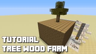 getlinkyoutube.com-Minecraft: Simple Tree Wood Farm