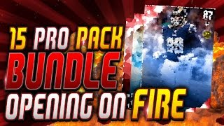 Madden 16 Ultimate Team | 15 Pro Pack Bundle Opening | Late Night Stream Elite Pack Luck