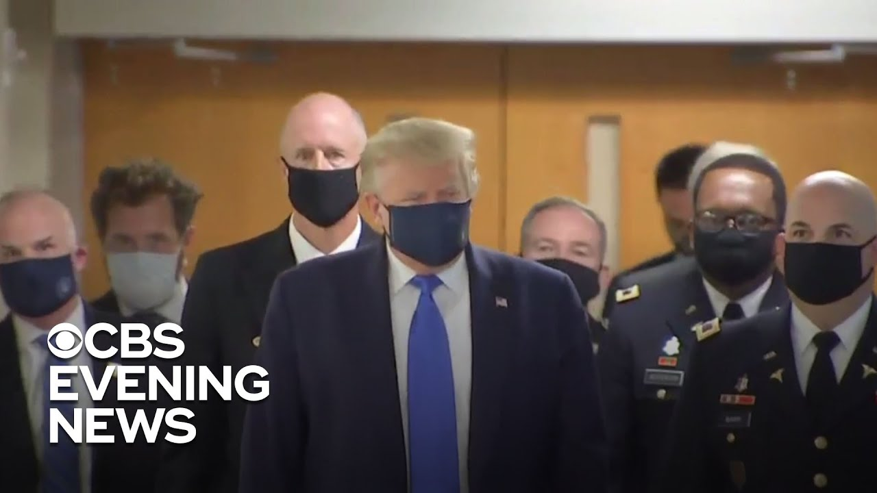 Trump's Face Mask Debut